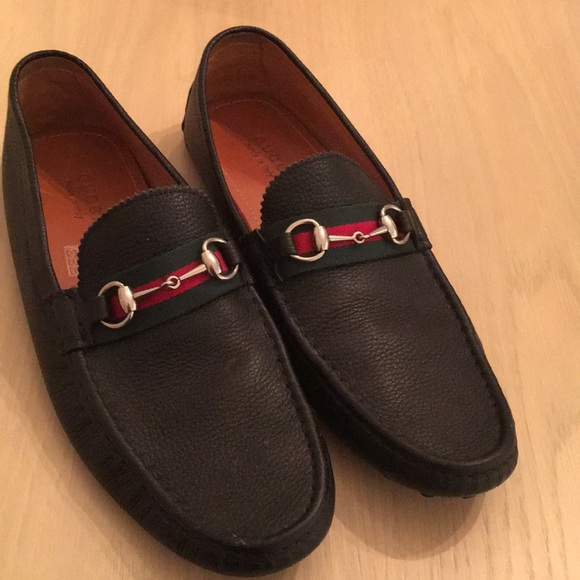 68cc073a6 Gucci Shoes | Mens Horsebit Driving Loafers Black 145us | Poshmark